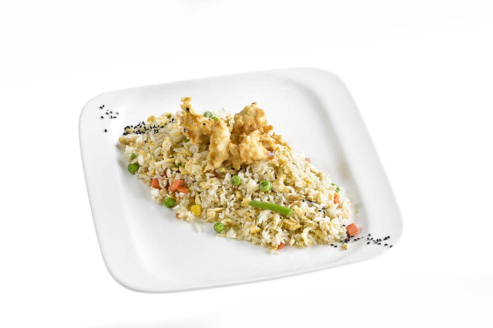 Egg Fried Rice With Chicken